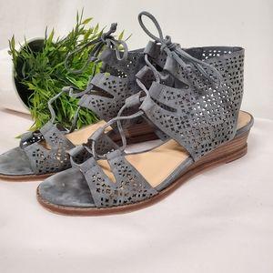 Vince Camuto smokey blue strappy Retana sandals